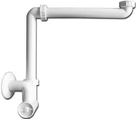 """HL 137/40 umyvadlový/nábytkový sifon DN 40 x 5/4"""" pro úsporu místa č.1"""
