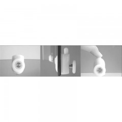 MEREO SET sprchový kout CK35124H, 90x90x185 cm, bílý ALU, Chinchilla, vanička R550, vč. sifonu, bez nožiček č.3