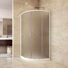 MEREO SET sprchový kout CK35124H, 90x90x185 cm, bílý ALU, Chinchilla, vanička R550, vč. sifonu, bez nožiček č.1