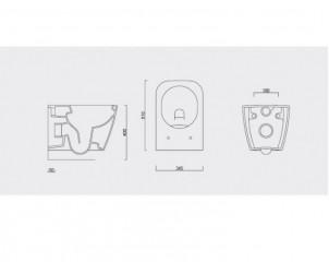 HOPA NOVA WC závěsné RIMLESS, bezoplachové + WC sedátko soft-close č.5